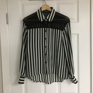 Urban Outfitters sheer striped top, size XS.